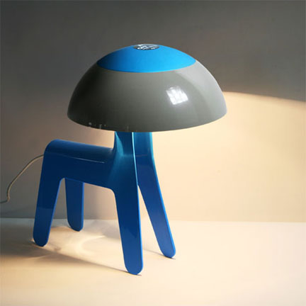 Dog Lamp Has A Lampshade On It S Head