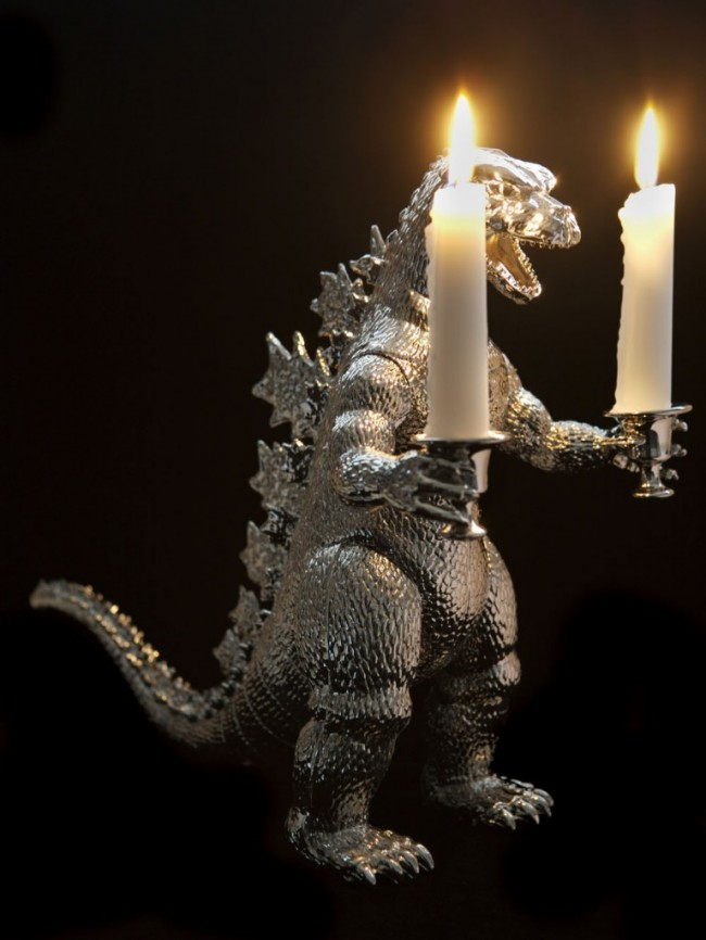 Godzilla candlesticks craziest gadgets for Cool candlesticks